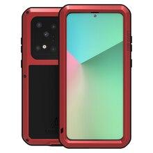 Pour Samsung S20 Plus S20 Ultra extérieur Sport étui de téléphone en métal armure anti éclaboussures anti poussière antichoc robuste pleine protection couverture