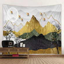Sun Moon River Mountain Japanese style tapestry background tapestry decoration tapestry digital printing can be customized