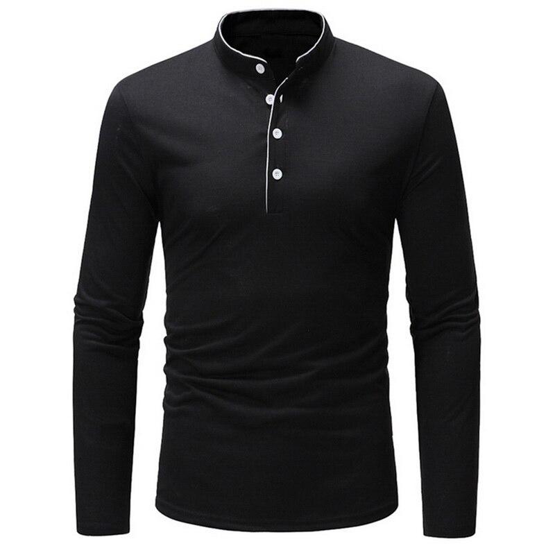 Vogue mode hommes Style chinois t-shirt bouton solide Slim t-shirt hommes coton VogueT chemise de grande taille Camisa Masculina