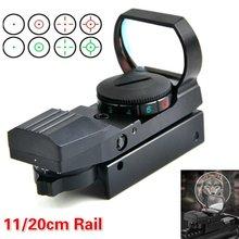 Holográfico 4 retículo 20mm/11mm ferroviário riflescope caça óptica holográfica red dot sight colimador vista