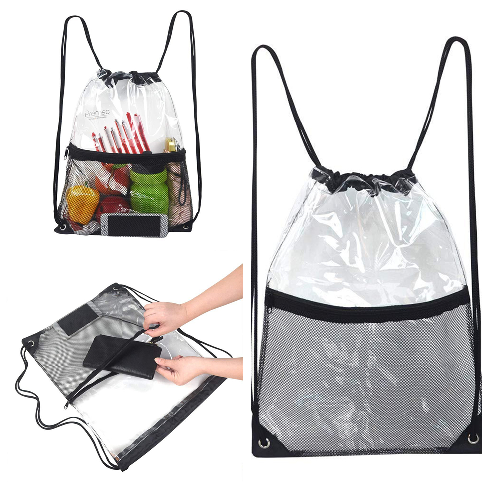 Travel SportsWaterproof Storage Summer Transparent Bag Drawstring Bag Tow Bunch Beach Storage Clothes Fruits Phone Bag Back Pack