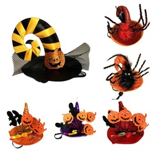Halloween Party Pet Supplies With Lace For Small Medium Funny Headdress Pumpkin Spider Shape Hat 2019 Newest