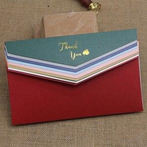 Image 2 - 50 قطعة/الوحدة عالية الجودة #5 200GSM ورقة المغلفات مع رسالة شكرا لك ، لك دعوة مغلفات الزفاف