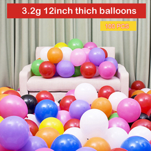 Black Balloons 100pcs 12 Inch 3.2g Wedding Decoration Latex Happy Birthday Inflatable Helium Party Supplies