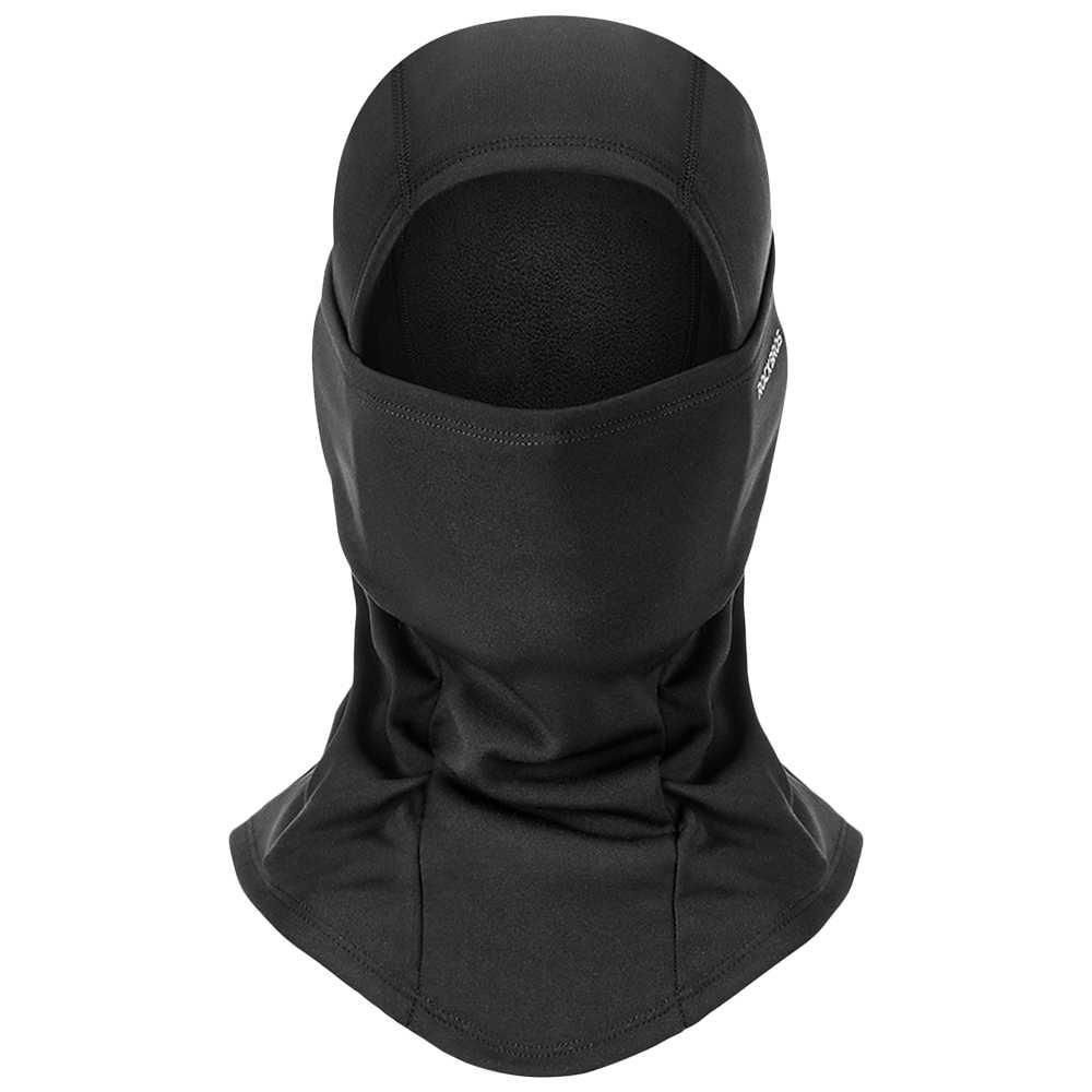 冬サイクリングフルフェイスマスク熱フリース帽子フード付きネックサイクリングアームフェイスマスク防風フリース屋外スポーツマスク
