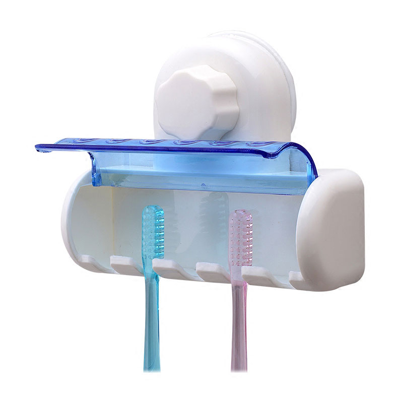 Wall Mounted Tooth Brush Holder Case With 5 Hooks Bathroom Toothbrush Brush Organization Storage Rack Stand