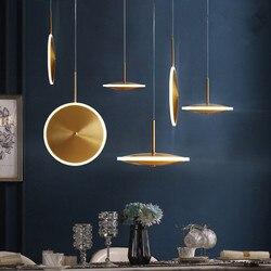 Nowoczesna szklana lampa wisząca Nordic jadalnia oświetlenie kuchni projektant lampy wiszące Avize Lustre oświetlenie Ing deco maison w Wiszące lampki od Lampy i oświetlenie na