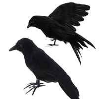 1PCS Halloween Prop Federn Crow Vogel Große Verbreitung Flügel Schwarz Crow Spielzeug Modell Spielzeug, leistung Prop