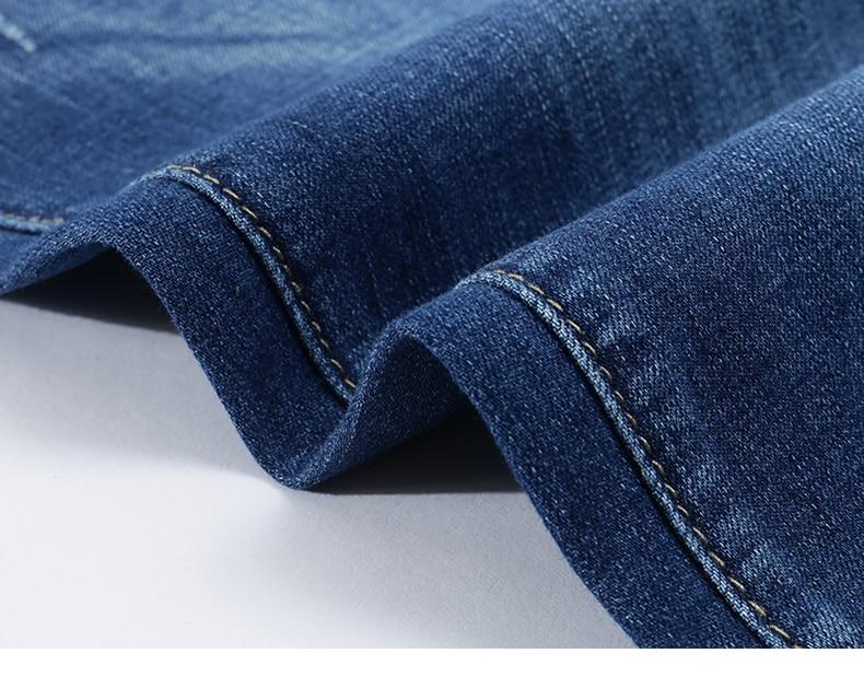 KSTUN Jeans Men Summer 2020 Blue Slim Straight Denim Pants Casual Fashion Men's Trousers Full Length Cowboys Male Jeans Hombre 17