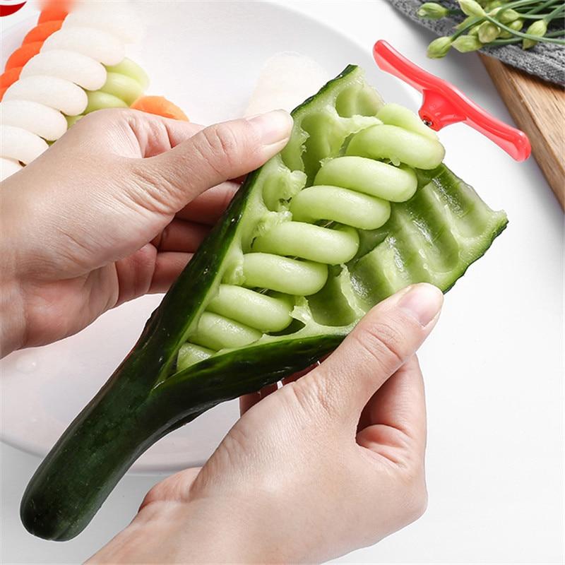 Legumes espiral faca batata cenoura pepino salada chopper fácil espiral parafuso slicer cortador spiralizer ferramentas de cozinha
