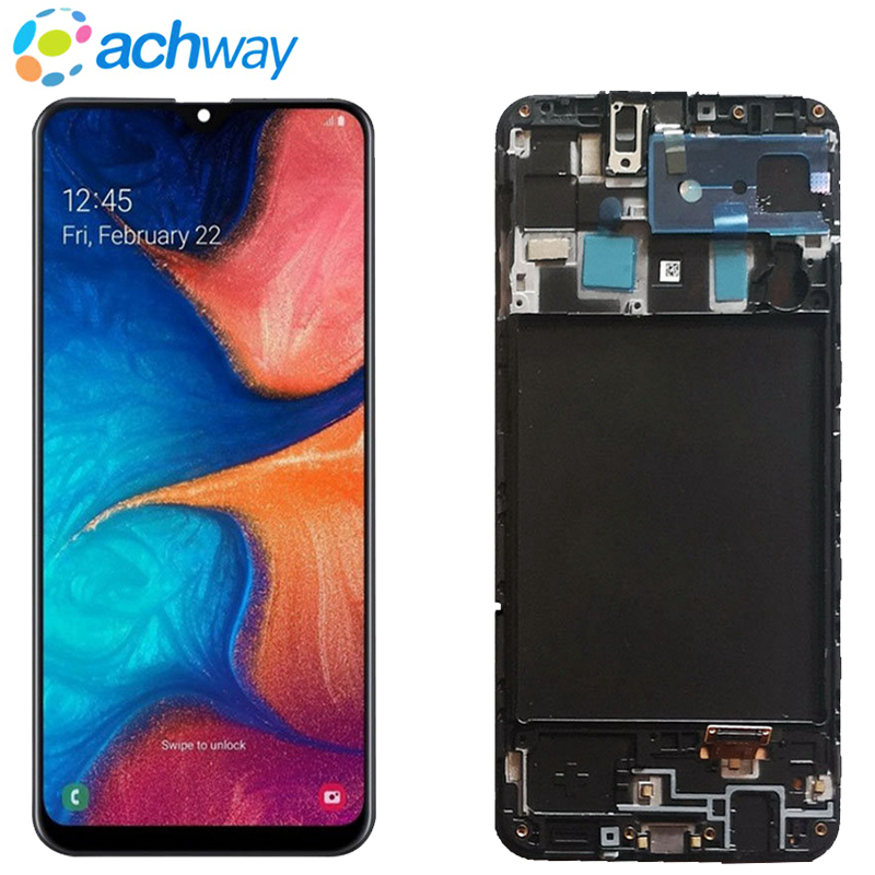 For Samsung Galaxy A20 LCD Galaxy A20 LCD Display Touch Screen Digitizer Assembly For Samsung A20 2019 <font><b>A205F</b></font> A205 <font><b>SM</b></font>-<font><b>A205F</b></font> LCD image