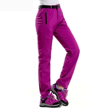 Women Softshell Pants Fishing Camping Hiking Skiing Trousers Waterproof Windproof  Thick Warm Fleece Pants цена 2017