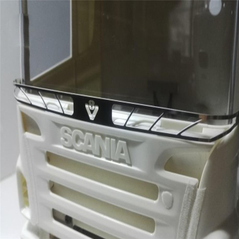 Металлическая защитная сетка передняя решетка модификация части для 1/14 Tamiya Scania R620 R470 56323 RC Запчасти для тракторов и грузовиков