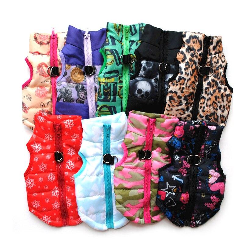 Одежда для домашних животных, жилет для щенков, теплая одежда для маленьких собак, зимние ветрозащитные куртки для собак, стеганая одежда Чихуахуа 20-0