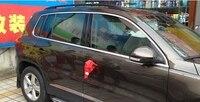 304 de aço inoxidável janela especial guarnição estilo do carro para volkswagen tiguan 2010-2017