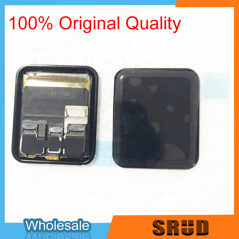 Original LCD <font><b>Touch</b></font> <font><b>Screen</b></font> LCD Assembly <font><b>Replacement</b></font> For <font><b>Apple</b></font> <font><b>Watch</b></font> 1 2 <font><b>3</b></font> 4 5 38mm 40mm <font><b>42mm</b></font> 44mm With Free 3M Frame Tape image