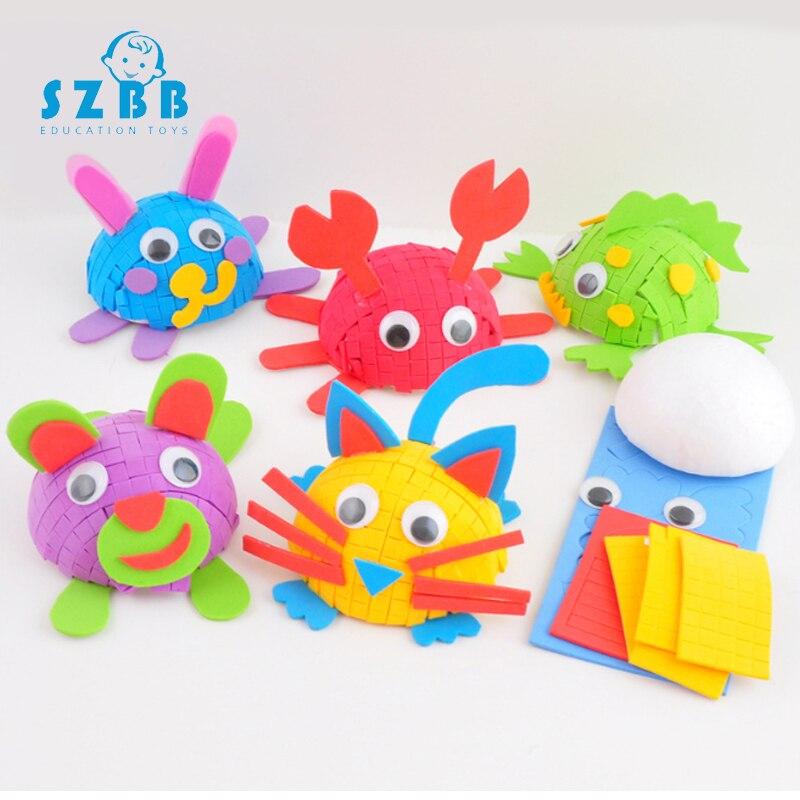 Sz Steam Hemisphere Styrofoam Animal DIY Toys For Children Kindergarten Manual Learning Education Toys Teaching Aids Kids Toy