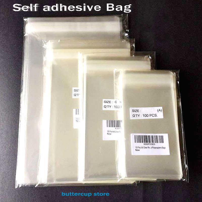Transparent Self Adhesive Seal OPP Plastic Bags Party Bags for Candy Cookie
