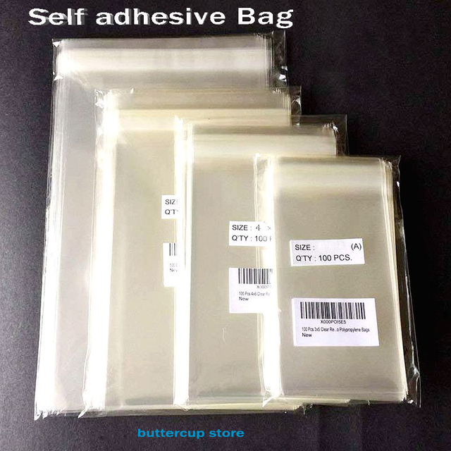 Transparent Self Adhesive OPP Plastic Bags Party Bags for Candy Cookie Gift Packaging Bag Clear Small Cellophane Bags