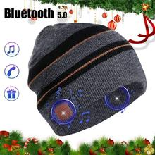 2017 New Fashion Beanie Hat Wireless Bluetooth Smart Music Mp3 Cap Headphone Headset Speaker Mic Magic Sport Knitted Hats sport wireless bluetooth headset music hat colorful smart cap headphones beanie warm winter hat with speaker mic earphones