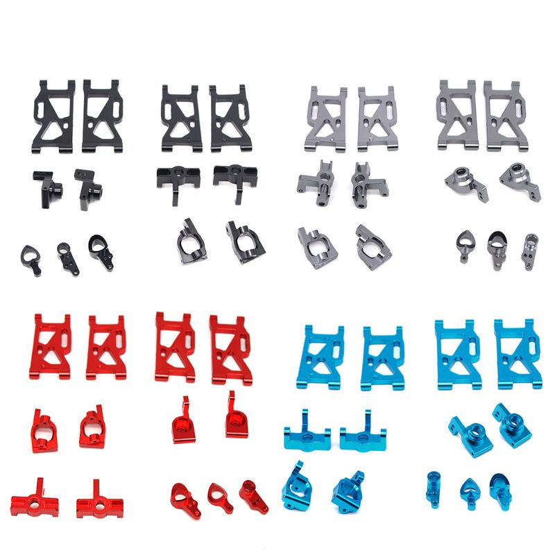 Metal Steering Swing Arm Base C Rear Hub Seat Assembly Upgrade Parts for Wltoys 144001 1/14 RC Car