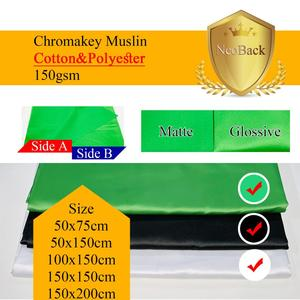 Image 4 - NeoBack Chromakey Muslin Ảnh Nền Chụp Ảnh Phông Nền Phòng Thu Video Cotton Vải Poly Xanh Màn Hình Màu Chân Dung