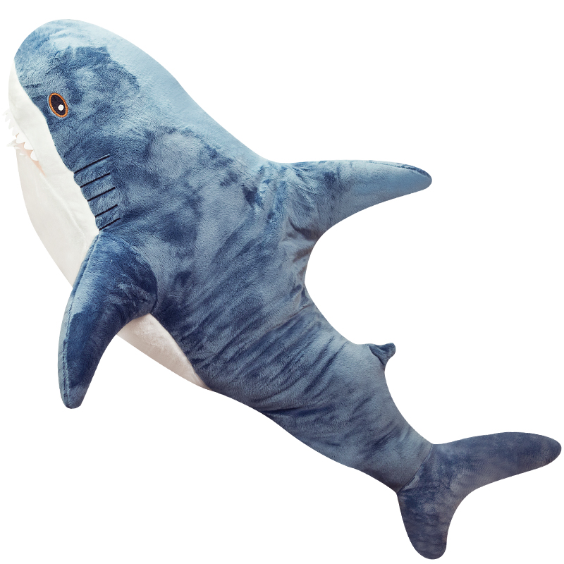 39inch Shark Giant Stuffed Animal Great Gift For Girls And Boys Handcrafted Kids Pillow Plush Toys For Kids Room Decoration