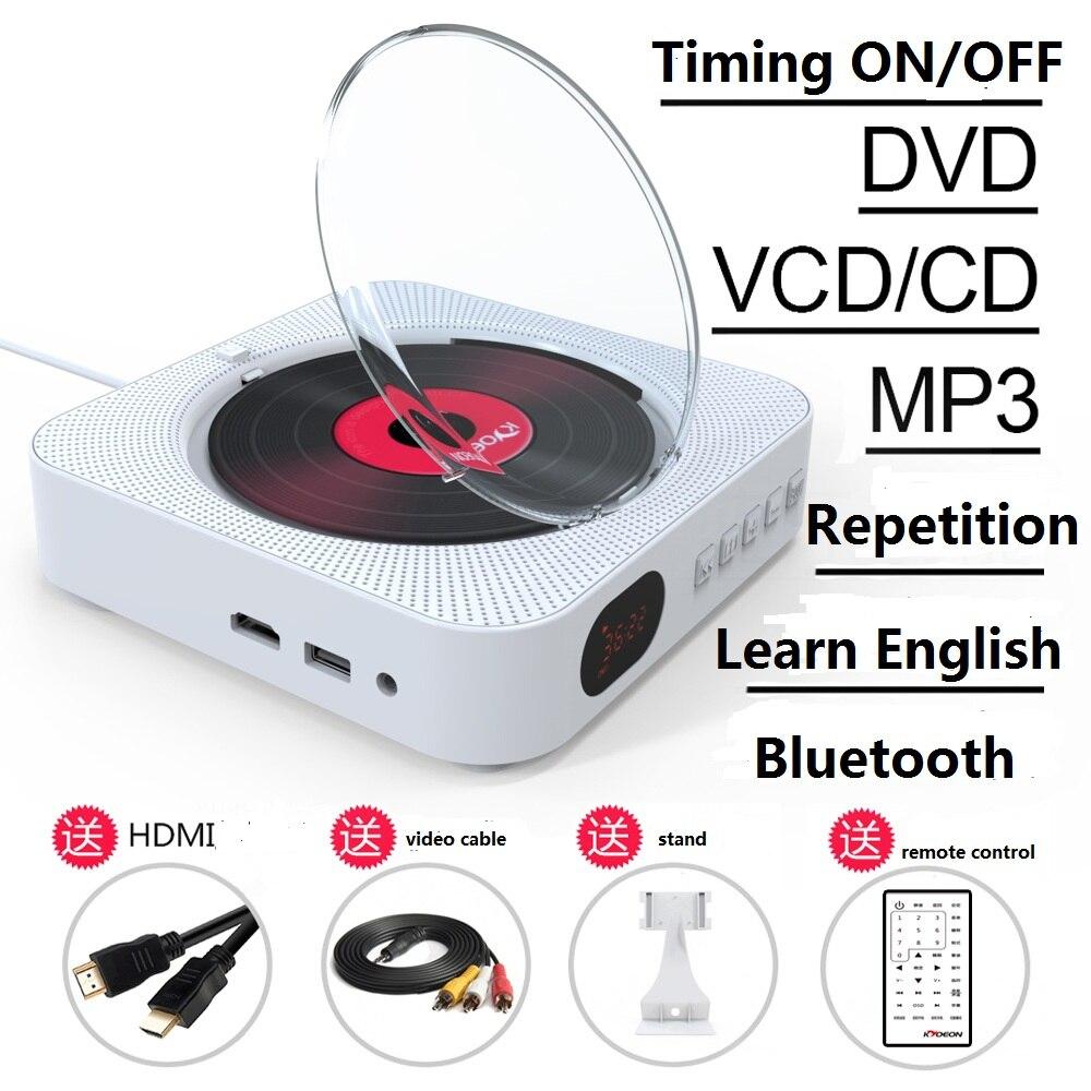 Lecteur DVD lecteur CD mural haut parleur Bluetooth machine d'apprentissage fœtal lecteur CD avec récepteur portable lecteur dvd cadeaux