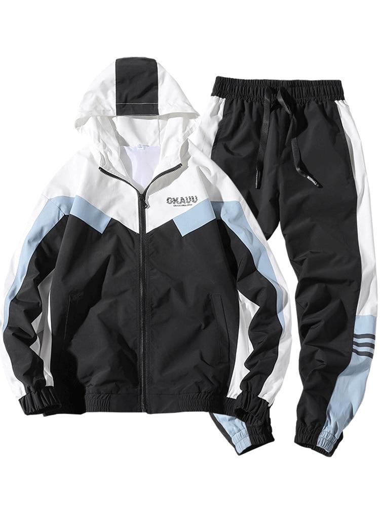 New Spring And Autumn Men Fashion Tracksuit Sweat Men Two Piece Long Sleeve Set Jogging Homme Mens Designer Tracksuits HH50TZ