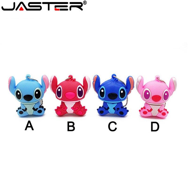JASTER 2018 Hot Fashion Cartoon Stitch Series Real Capacity USB 2.0 4GB 8GB 16GB 32GB 64GB Gift USB Flash Memory Stick