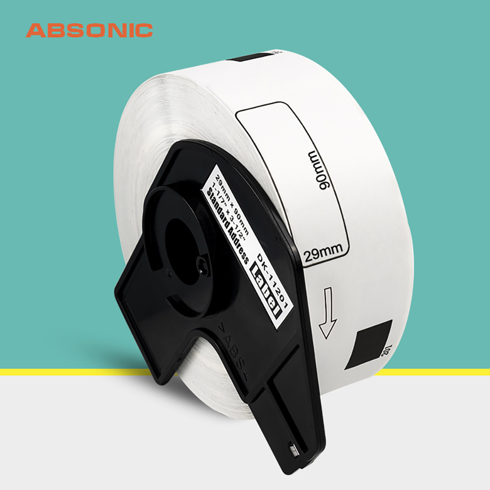 Absonic DK-11201 For Brother DK Labels With Holders 29*90mm Thermal Paper Compatible For Brother QL-500 QL-570VM QL-700 QL-1100