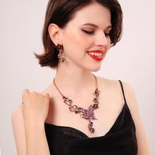 Sncsdk дизайн чувство лесной цветок женское ожерелье Европейская