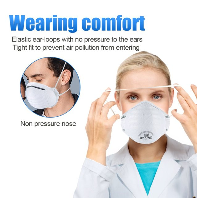 Anti-fog headband grade round FFP2 mask non-woven Dust Mask Anti PM2.5 Anti influenza Breathing Bicycle Rid Face Flu Face masks 2