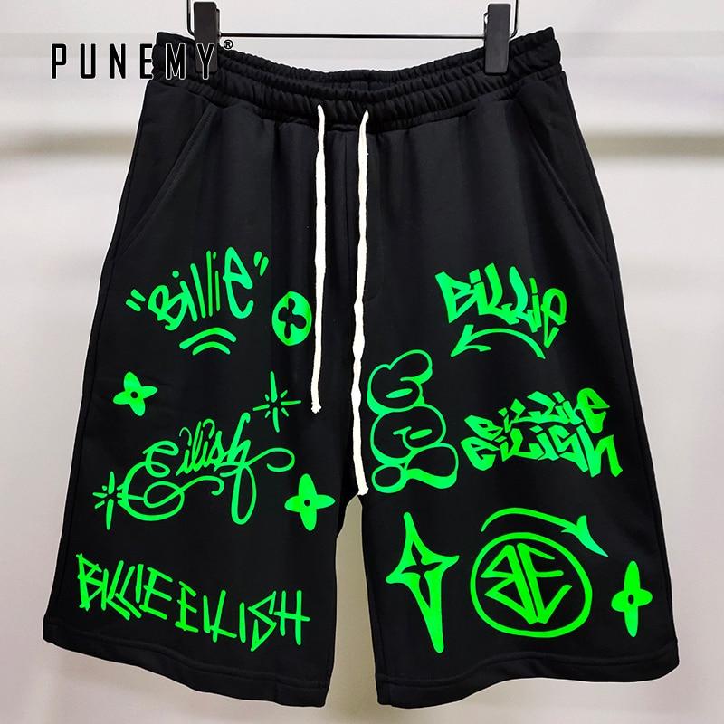 Billie Eilish World Tour Shorts Men Streetwear Hip Hop 2020 Summer New 100% Cotton Track Pants Joggers Trousers Women Shorts