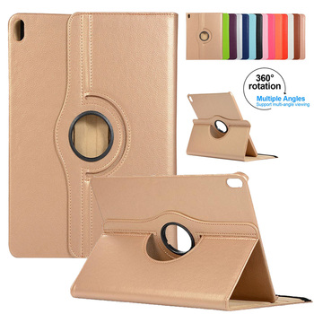 360 Degree Rotating Case for iPad Pro 12.9 inch 2018 Leather Flip Stand Case Smart Cover Sleep/Wake for iPad Pro 3rd Gen 12 9