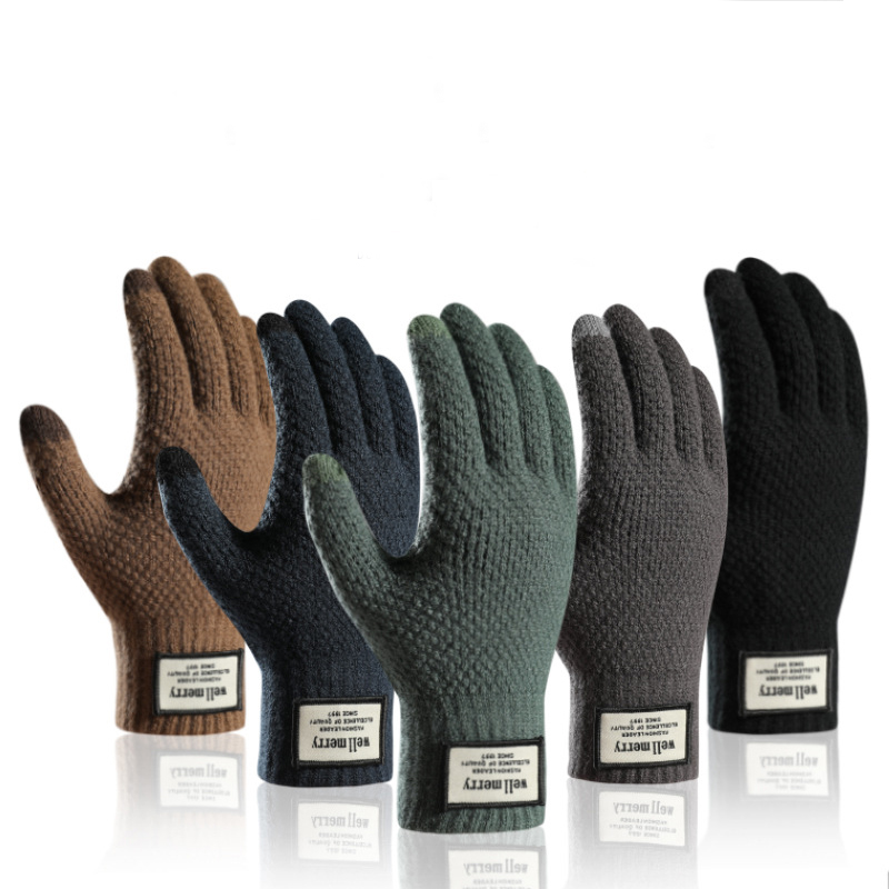 Winter Riding Gloves Bike Warm Touch Screen Full Finger Gloves Waterproof Outdoor Bike Skiing Motorcycle Riding