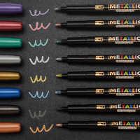 8 цветов, металлический маркер, водная краска, маркер, ручка, Перманентный рисунок, сделай сам, фотоальбом, стеклянная бумага, цветная Рисова...