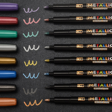 8 Colors Metallic Marker Water Paint Marker Brush Pen Permanent Drawing DIY Photo Album Glass Paper Color Marker Drawing Gift стоимость