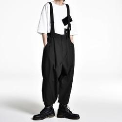 Оригинальный дизайн, свободные японские мужские повседневные штаны, широкие брюки 27-44! Большие подтяжки 2019 мужская одежда на заказ