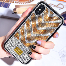 fashion female Diamond Shining bling Case For Iphone X Xs Max Xr 8 7 6 6s Plus Hard cases Phone Cover Luxury Fundas plus Capa
