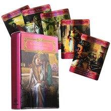 Romantico angelo tarocchi Del Fuego gioco di carte mazzo oracolo giocattolo decantazione stella mistero equitazione guida elettronica predire il cervello