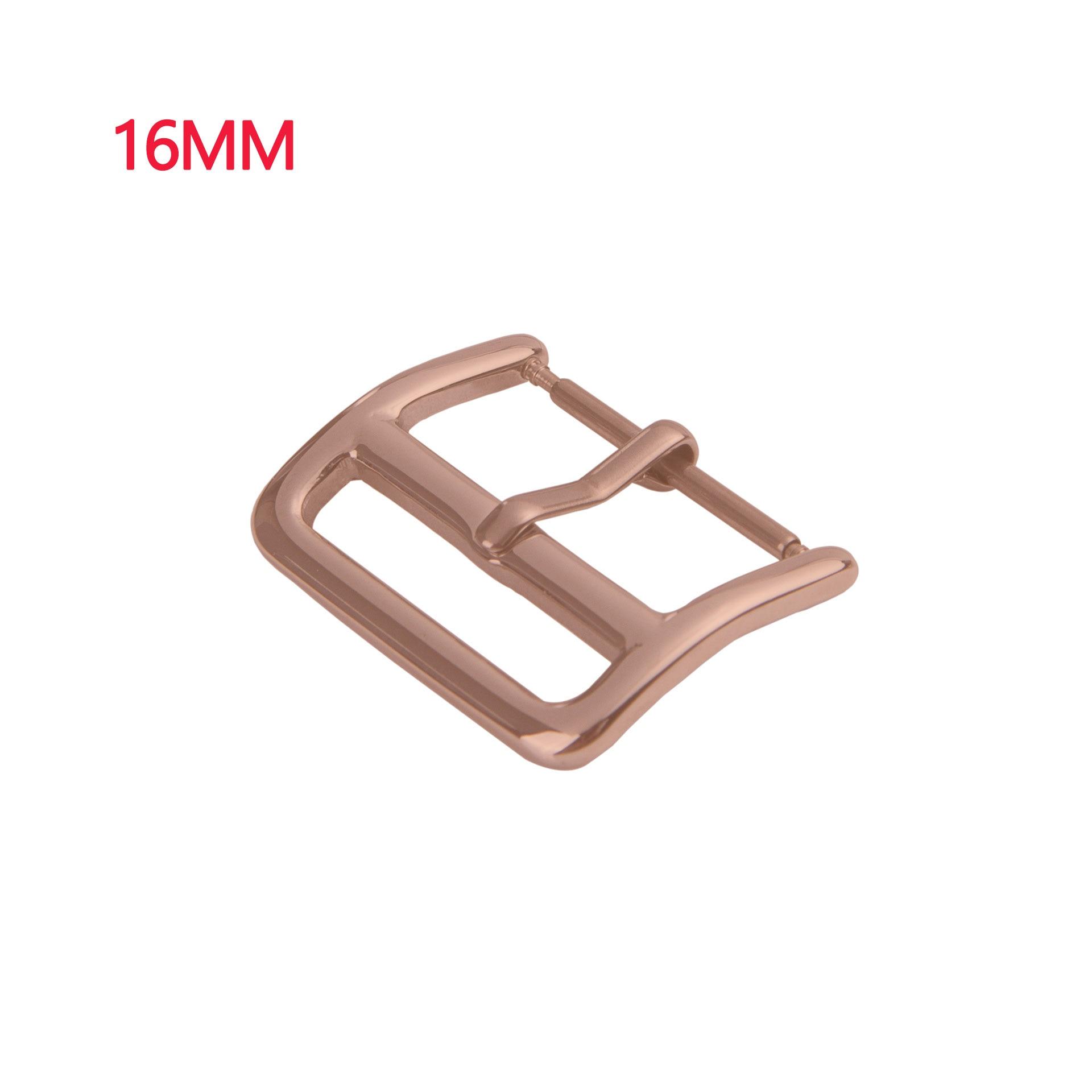 50 шт. DIY для samsung/Apple Watch ремешок пряжка 18 мм 20 мм 22 мм Кнопка из нержавеющей стали Серебряный полированный ремешок для часов булавки пряжки для ремня - Цвет: 16mm rose gold