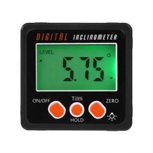 Магнитный Цифровой Инклинометр, измеритель уровня, Измеритель угла, искатель, транспортир, база, измерительные инструменты