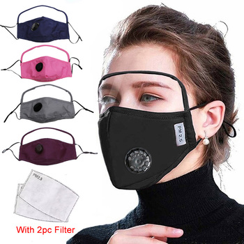 Protective Eye Safety Goggles Face Shield Masks Reusable Fabric Cotton Adult Mask Anti PM2.5 Dust Haze Windproof Mouth Masker - discount item  30% OFF Workplace Safety Supplies