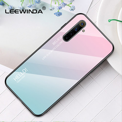 На Алиэкспресс купить стекло для смартфона for oppo realme 6 x2 pro a7 a5 phone case gradient glass hard shell for oppo a12 a92s find x2 all full anti-fall back cover