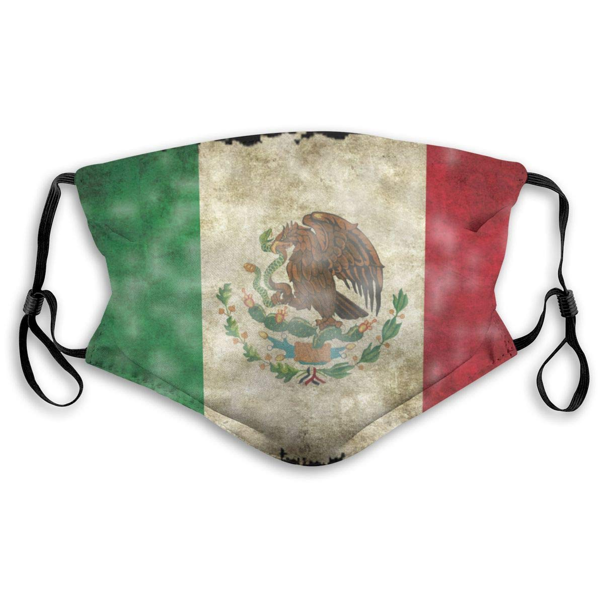 Mexico Flag Washable Reusable Mask, Anti Dust Half Face Mouth Mask For Kids Teens Men Women With Adjustable Ear Loops
