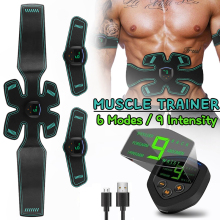 EMS Trainer Massage Body Slimming Belt Muscle Stimulator Toner Abdominal Electrostimulation Fitness Fat Burning Muscle Exerciser