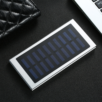 Solar Power Bank 30000mah External Battery 2 USB LED Portable Powerbank Mobile Phone Solar Charger for All smartphones    5