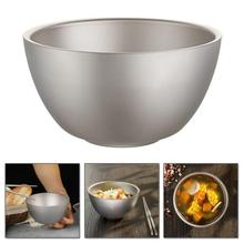 pure titanium rice bowl for children's health tableware double-layer heat insulation and anti-fall portable small bowl 35DC26 keith 550ml titanium bowl ultralight camping travel tableware single wall and double wall pure titanium bowls for choose