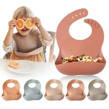 Let'S Make 1pc Silicone Bibs For Kids Newborn Baby Feeding Tableware Waterproff Baby
